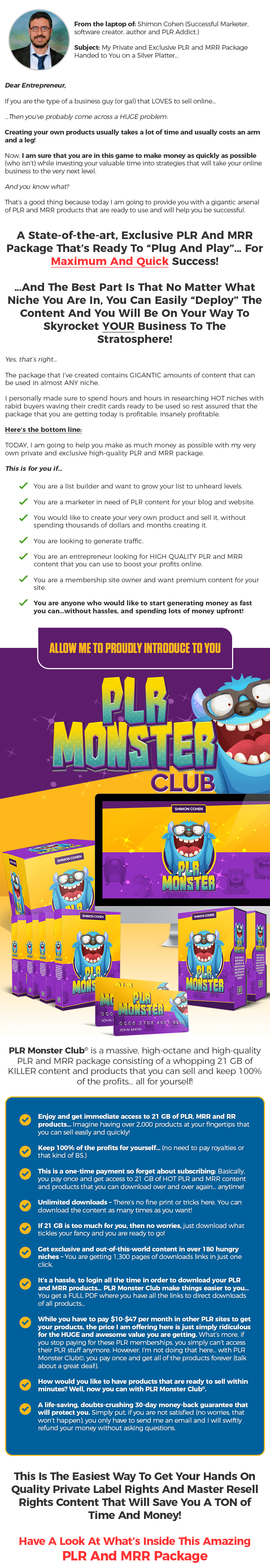 plr monster club